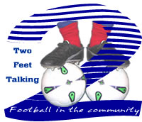 Two feet talking logo - copyright Richard Carroll, Linfield FC